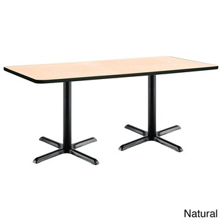 KFI Seating 30 x 72in Pedestal Table with Black X-Shaped Bases (More options available)