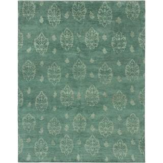 ecarpetgallery Royal Maroc Green Wool Rug (7'8 x 9'10)