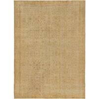 ecarpetgallery Anatolian Sun Wash Yellow Wool Rug - 6'6 x 9'3