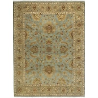 Bethany Aqua Traditional Hand-knotted Runner Rug (2'6 x 10') - 2' x 10'