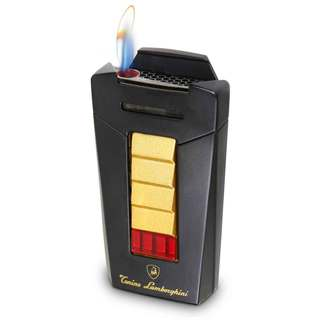 Tonino Lamborghini Aero Matte Black and Gold Torch Flame Cigar Lighter