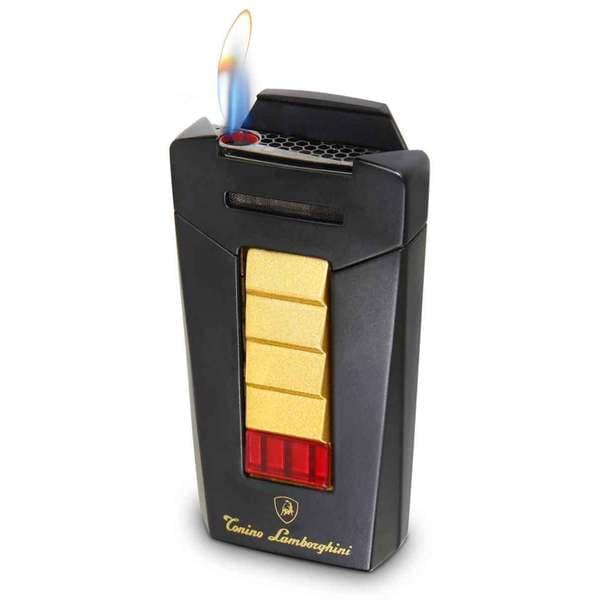 Tonino Lamborghini Aero Matte Black and Gold Torch Flame Cigar Lighter