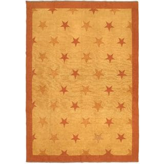 ecarpetgallery Shiravan Sumak Brown Wool Sumak (6'10 x 9'8)