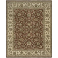 Bethany Red/ Beige Traditional Hand-knotted Rug - 2' x 3'