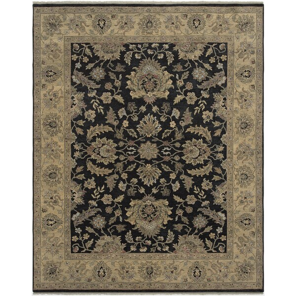 Bethany Ebony Traditional Hand-knotted Rug - 2' x 3'