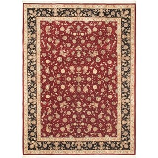 ecarpetgallery Sino Persian 180L Black/ Red Wool Rug (8'11 x 12')