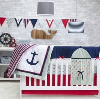 Anchors Away 6-piece Crib Bedding Set by Pam Grace Creations