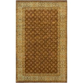 ecarpetgallery Mamluk Brown Wool Rug (6'6 x 10'3)