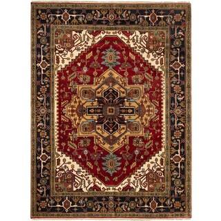 ecarpetgallery Serapi Heritage Red Wool Rug (8'10 x 12')