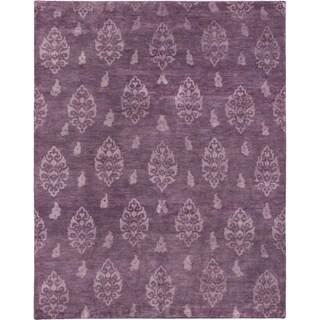 ecarpetgallery Royal Maroc Purple Wool Rug (8' x 10')