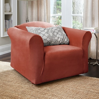 Harlow Stretch Suede 1-Piece Chair Slipcover