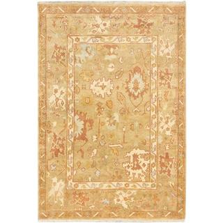 ecarpetgallery Royal Ushak Beige Wool Rug (6'1 x 9')