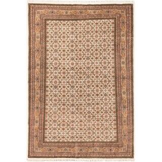 ecarpetgallery Tabriz Haj Jalili Beige Wool Rug (6'8 x 9'9)