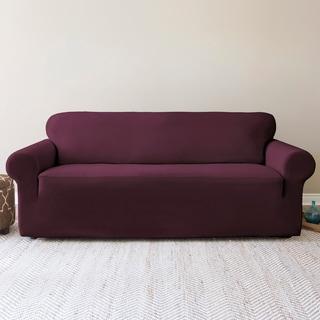 Shiloh Chic Stretch Velvet 1-Piece Sofa Slipcover