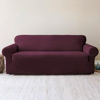 QuickCover Shiloh Chic Stretch Velvet 1-Piece Sofa Slipcover