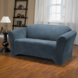 QuickCover Hanover Stretch Plush 1-Piece Loveseat Slipcover