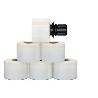 648 Rolls 3-inch 1000-foot 90-gallon Extended Core Stretch Wrap with Black Spinning Handle