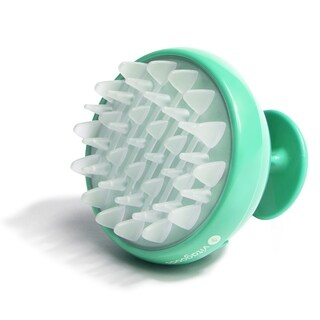 Scalp Massaging Lucite Green Shampoo Brush