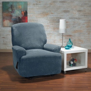 QuickCover Hanover Stretch Plush 4-Piece Recliner Slipcover