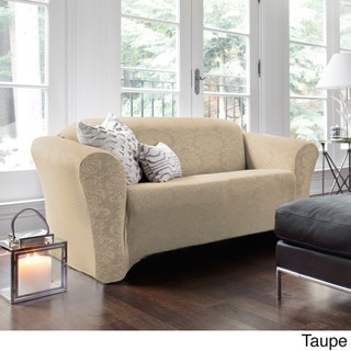 Damask Stretch Loveseat Slipcover