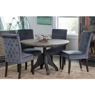 Kosas Home Hand-tufted Jackson Grey Polyester Dining Chair