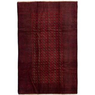 ecarpetgallery Khal Mohammadi Red Wool Rug (6'10 x 10'7)