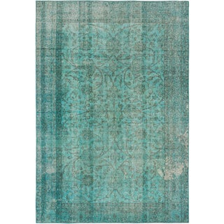 ecarpetgallery Color Transition Blue Wool Rug (6'9 x 9'8)