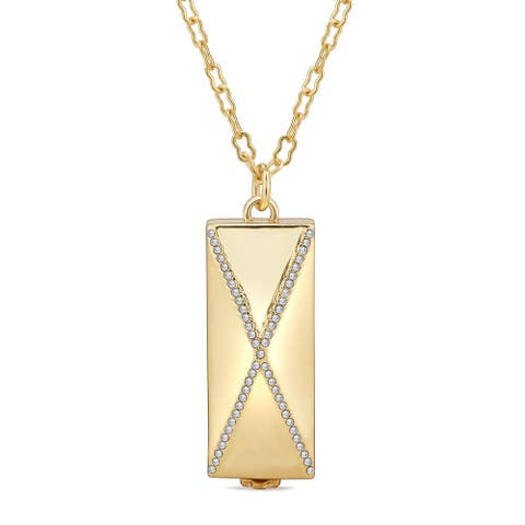 Divina Cross Fitness Tracker Pendant Necklace