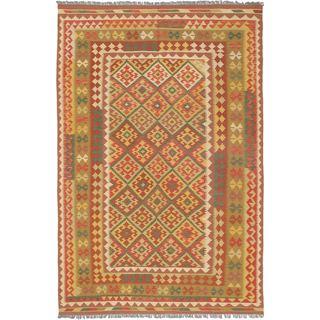 ecarpetgallery Hereke Kilim Yellow Wool Kilim (6'8 x 10'1)