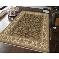 Bethany Brown/ Beige Traditional Hand-knotted Rug - 6' x 9'