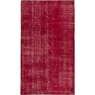 ecarpetgallery Color Transition Red Wool Rug (3'10 x 6'9)