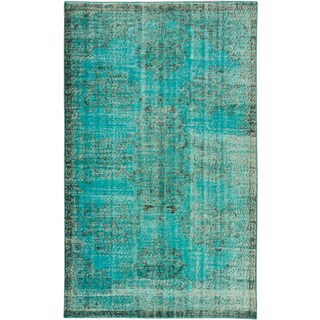 ecarpetgallery Color Transition Blue Wool Rug (5'6 x 9')
