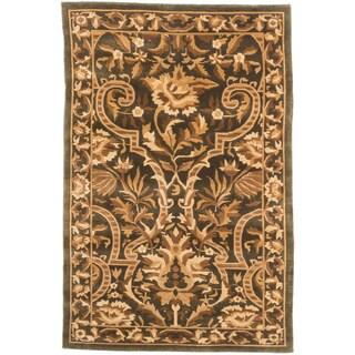 ecarpetgallery Kathmandu Beige/ Green Wool Rug (4' x 5'10)