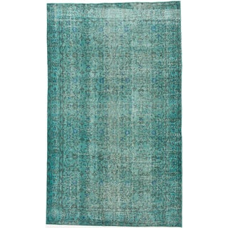 ecarpetgallery Color Transition Blue Wool Rug (5'4 x 8'8)
