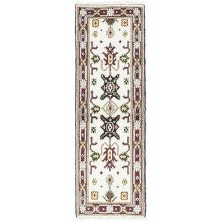 ecarpetgallery Royal Kazak Beige/ Brown Wool Rug (2'2 x 6'6)