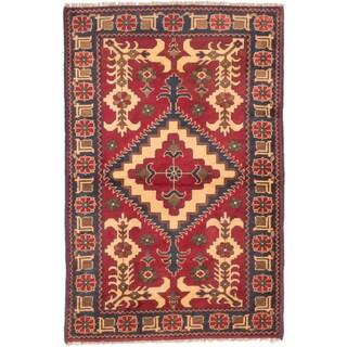 ecarpetgallery Finest Kargahi Red Wool Rug (3'5 x 5'2)
