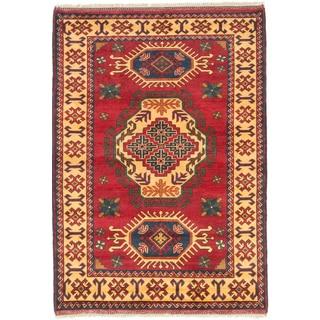 ecarpetgallery Finest Kargahi Red Wool Rug (3'6 x 5')