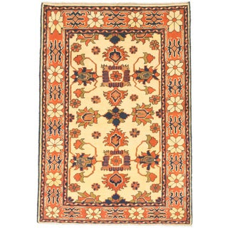 ecarpetgallery Finest Kargahi Brown/ Yellow Wool Rug (3'3 x 4'8)