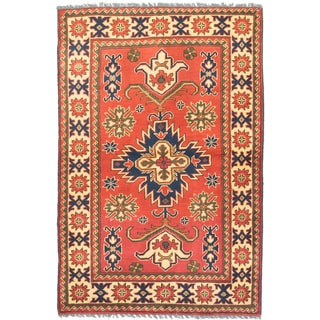 ecarpetgallery Finest Kargahi Brown Wool Rug (3'7 x 5'4)