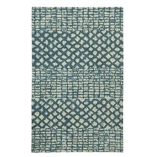 Hand Tufted Charisma-Mosaic Rectangle Rug (8' x 11') - 8' x 11'