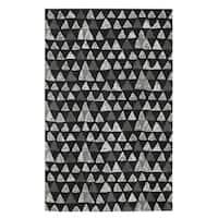 Hand Tufted Charisma-Pyramid Rectangle Rug (8' x 11') - 8' x 11'