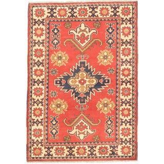 ecarpetgallery Finest Kargahi Brown/ Yellow Wool Rug (3'5 x 4'11)