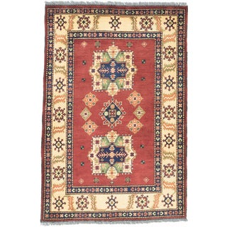 ecarpetgallery Finest Kargahi Brown/ Yellow Wool Rug (3'6 x 5'2)