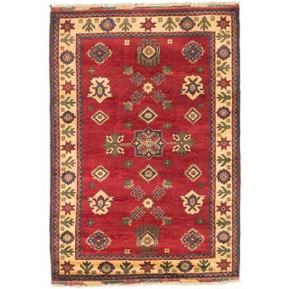 ecarpetgallery Finest Kargahi Red/ Yellow Wool Rug (3'5 x 5'1)