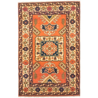 ecarpetgallery Finest Kargahi Brown/ Yellow Wool Rug (3'5 x 5'1)