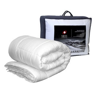Swiss Comforts Luxurious Hypoallergenic Down Alternative Comforter with Hand Crafted Double Piping