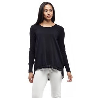 La Cera Women's Long Sleeve Pullover Top