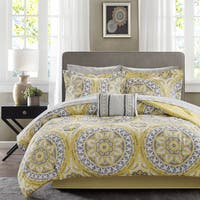 Palm Canyon Antigua Savanah Yellow Complete Comforter and Cotton Sheet Set