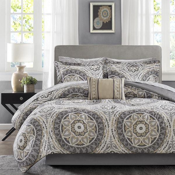 Madison Park Essentials Aurora Taupe Complete Comforter and Cotton Sheet Set