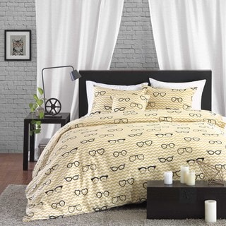 HipStyle Liv Cotton 4-piece Duvet Cover Set